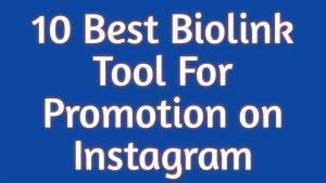 10 Best Biolink Tool For Promotion on Instagram